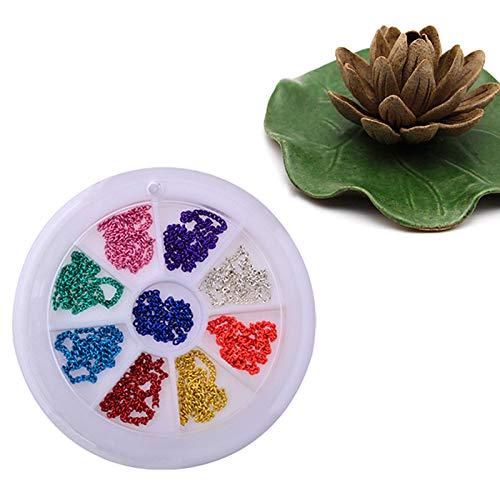 DIY decoración de uñas Arte Rhinestone Adorno Cadena para Mujer Parche Dorado Ruedas Ordenador Pastillas Cristal Pegatinas Decorativas para uñas: Amazon.es: ...