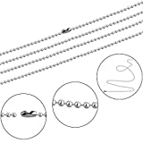 Pistha 20 Pieces Stainless Steel Bead Chain 30