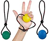 ball bearings 3 16 - StringyBall Stress Ball on a String - For Stress Relief, Hand Exercise, Strengthening, Rehabilitation - Soft, Medium and Firm Balls with Exercise Guide - No Falling or Rolling Away (3 Balls Set)