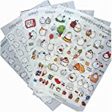 12 Sheets Lovely Decorative Stickers for Diary/ Scrapbook/ Album , Random Style