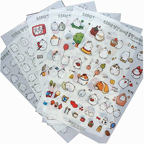 12 Sheets Lovely Decorative Stickers for Diary/ Scrapbook/ Album , Random Style by Black Temptation