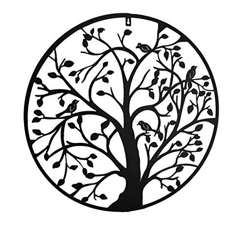 (Zeckos Birds in A Tree Decorative Metal Wall Hanging 24 in.)