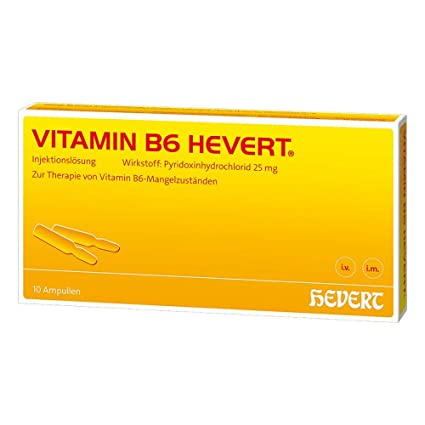 Vitamina B6 hevert ampollas 20 ml ampollas