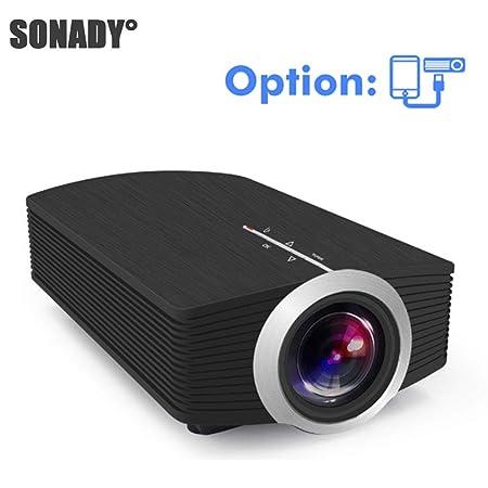 Proyector para el hogar, YG510 Mini proyector 1080P LCD portátil ...