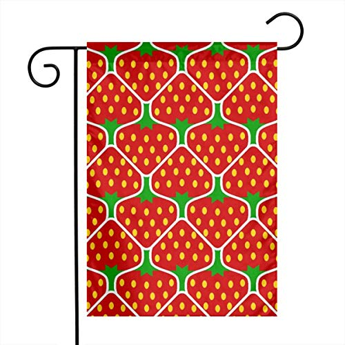 "Life shop Strawberry 2j Art Garden Flag Yard Flag 12"""" x 18"""" Home Decorative House Flag,Banners for Patio Lawn Outdoor"
