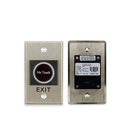 Salida HW-CT OBO HANDS Infrarrojo sin Pulsador Pulsador de Salida para Sistema de Control de acceso Bot/ón de Salida de la Puerta Interruptor Emergente Bot/ón de Salida//Empuje