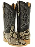 Cowboy Professional - Men's Natural Genuine Python Snake Skin Cowboy Boots Square 7.5 D(M) US