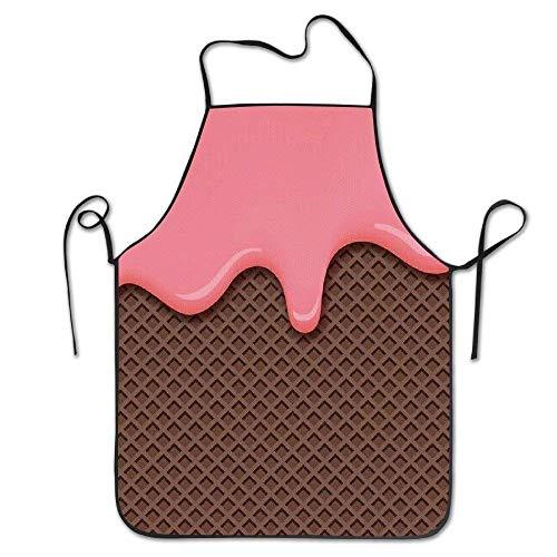 AianuqLuggage Pink Chocolate Ice Cream Waterproof BBQ Apron Size 72CM x 52CM