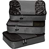 eBags Medium Packing Cubes for Travel - 3pc Set - (Titanium)