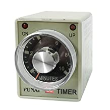 AH3-2 DC 24V 8 Pins DPDT 0-10 Minutes 10Min Power on Delay Timer Time Relay