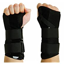 CFR Wrist Support Braces Hand Wraps Double Removable Steel Splints for Carpal Tunnel, Tendonitis, Wrist Pain & Sports Injuries
