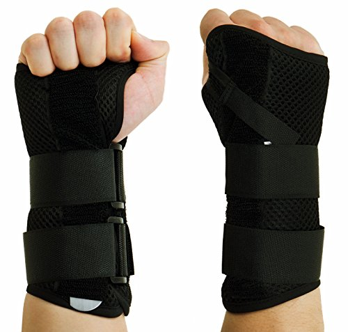 Removable Splint (CFR Wrist Support Braces Hand Wraps Double Removable Steel Splints for Carpal Tunnel, Tendonitis, Wrist Pain & Sports Injuries One Pair,S UPS Post)
