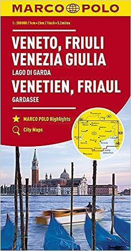 Karte Italien Gardasee.Marco Polo Karte Italien Blatt 4 Venetien Friaul Gardasee 1 200
