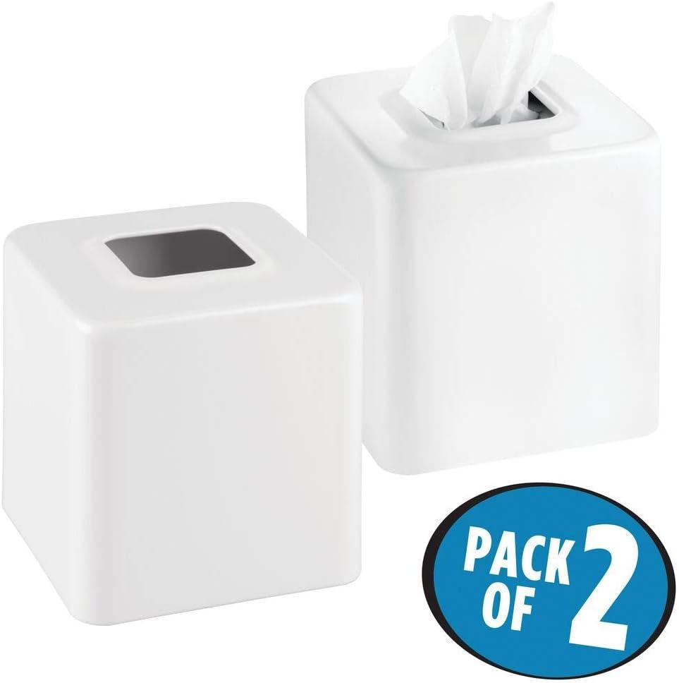 mattgrau Schlafzimmer oder K/üche Taschentuchspender aus Metall mDesign 2er-Set Kosmetikt/ücherbox praktische Taschentuchbox f/ür das Bade- Kinder- als Verkleidung von einfachen Tissue Boxen