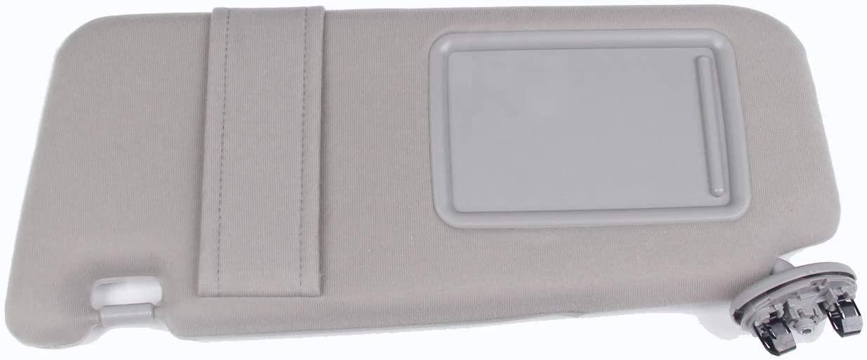 New Left Driver Side Sun Visor Light-Gray For Toyota Camry 2007-2011 Without Sunroof Repalce 74320-06780-B0