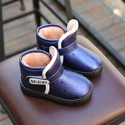 Clode® Kinder Herbst Winter warme Art und Weisekind Martin Mädchen beiläufige Schnee Aufladungen Blau