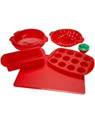 Silicone Bakeware Set, 18-Piece Set including Cupcake Molds, Muffin Pan, Bread