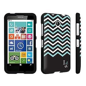 DuroCase ? Nokia Lumia 635 Hard Case Black - (Black Mint White Chevron I)