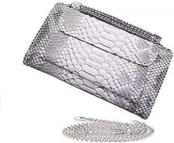 حقيبة للنساء-ابيض ورمادي - حقائب كلاتش