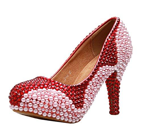 10cm MinitooScarpe Heel Plateau Rossored Con Donna 9IDYEeWH2