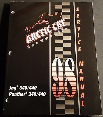 arctic cat snowmobile jag trainers4me 1998 arctic cat snowmobile jag 340 440 panther p n2255 717 service manual 822
