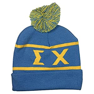 Sigma Chi Fraternity Letter Winter Beanie Hat Greek Cold Weather Winter - New Colors Sig Chi