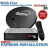 Dish TV Nxt HD Recorder Set Top Box with 1 Month Titanium Sports Full on HD Tamil Pack