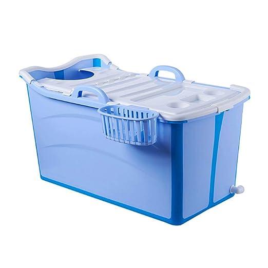 MY1MEY Bañera Plegable portátil, bañera para Adultos, Plato de ...