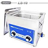 limplus 2.85Gallon Ultrasonic Cleaner 10L For Pistols Guns Bullets Cleaning
