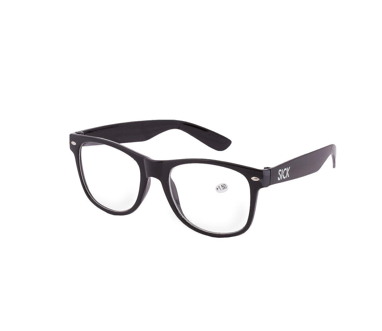 5c8fd45105a Men s Women s Original Retro +0.50 +0.75 +1.0 +1.5 +2.0 +2.5 +3.5 +4.00  Reading glasses Unisex Vintage (+0.50 Retro Black)  Amazon.co.uk  Clothing