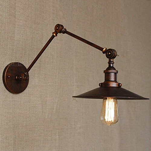 HOMEE Wall lamp- countryside industrial wind double rise texture creative retro arm loft rotatable iron wall lamp art bedside bedroom wall lamp --wall lighting decorations by HOMEE