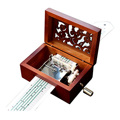 YouTang Vintage Carved Wood 15 Note Mechanism Musical Box...
