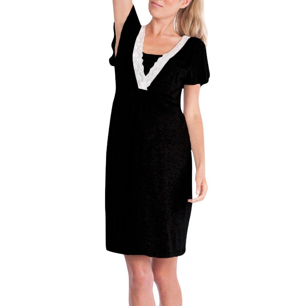 Keepwin Ropa Embarazadas Vestido Premama Lactancia Vestido De Lactancia Femenino