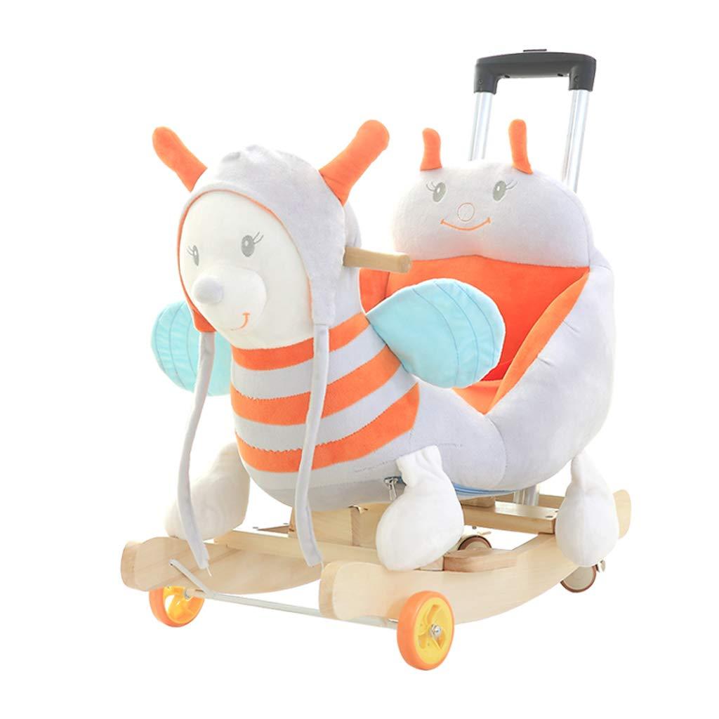 HUYP Kinder Musik Trojan Horse Baby Baby Schaukelstuhl Massivholz Mit Rocking Wiegen Mädchen Alter Geschenk (Farbe   C) D
