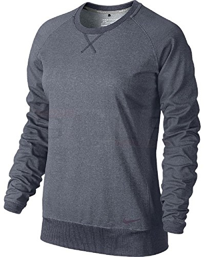 Nike Women's Sport Crew Cover-Up - X-Small - Black Heather