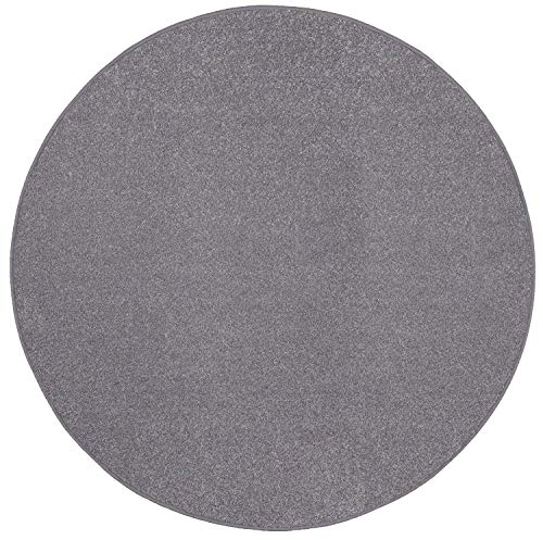 (Bright House Solid Color Area Rug, 7' Round, Grey)