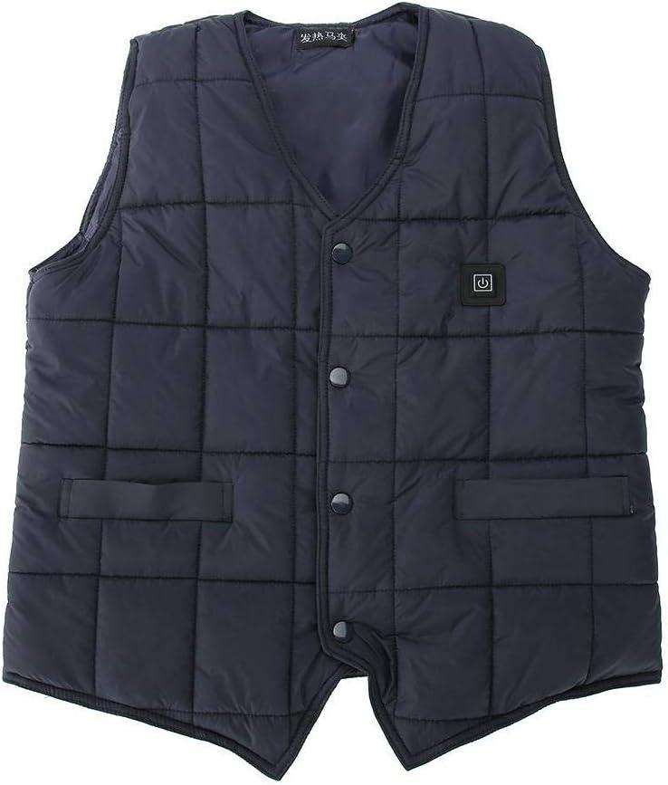 Electric Heating Gilet Winter Warm Jacket Coat for Camping Hiking L//XL//XXL//XXXL//XXXXL lahomie USB Heated Vest Jacket