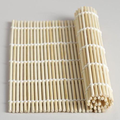 California Sushi Roll Costume (Bamboo Sushi Roller Mat California Roll 9.5 inch Square S-1573)