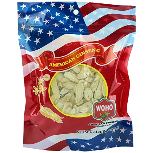 WOHO 126.8 American Ginseng Medium Slice Bag 8oz by WOHO