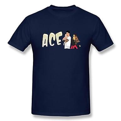 cbbff5bca5 Amazon.com  Men s Short Sleeve Ace Family Logo Personalized Fashion Custom  Navy  Clothing