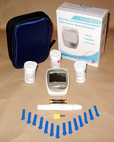 EasyLife hémoglobine, cholestérol et Kit compteur d'essai du système de surveillance de la glycémie