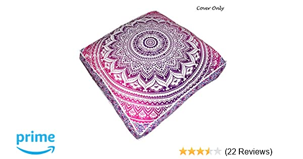 Indian 35/'Square Floor Pillow Cover Mandala Cushion Dog Bed With Insert Filler
