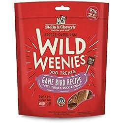 Stella & Chewy's Freeze-Dried Raw Game Bird Wild Weenies Dog Treats, 3.25 oz bag