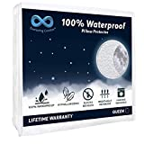 Everlasting Comfort 2-Pack 100% Waterproof Pillow Protector, Hypoallergenic Pillow Covers, Breathable Membrane, Lifetime Replacement Guarantee