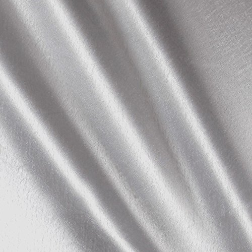 Ben Textiles Crepe Back Satin Fabric by The Yard, Silver