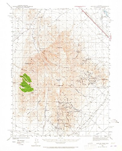 Nevada Maps | 1940 Antler Peak, NV USGS Historical Topographic Map | Cartography Wall Art | 44in x ()