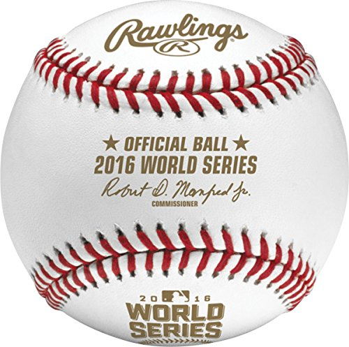 Rawlings Official 2016 World Series Leather MLB Baseball - WSBB16 ()