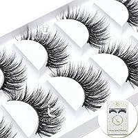 ICYCHEER Long Thick Makeup 5 Pairs False Eyelashes 3D Real Mink Eye Lashes Extension Reusable Handmade Party Salon