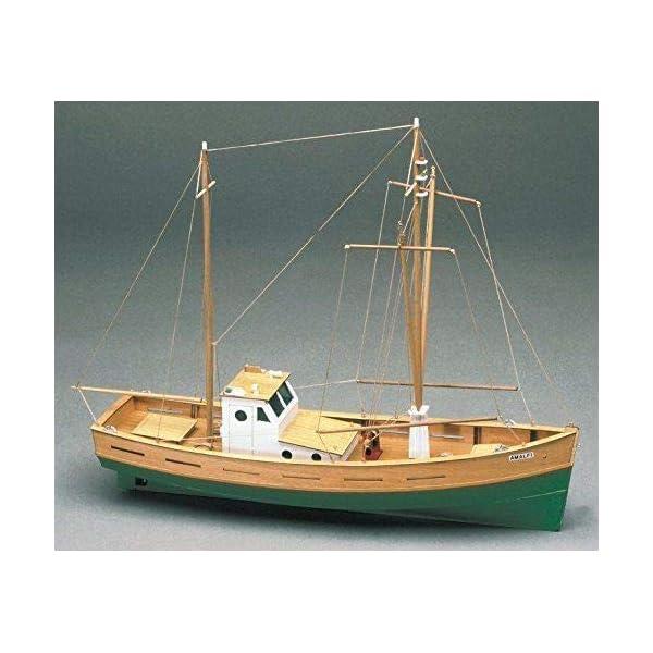 Amalfi Mediterranean Fishing Boat Wooden Model Ship Kit 1 35