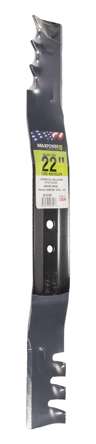 MaxPower 331376X Mulching  Blade for 22 Inch Cut Toro Replaces 108-9764-03, 131-4547-03 by Maxpower